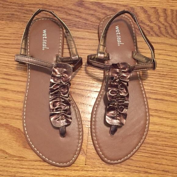 e0fd75d44d Bronze sandals from wet seal